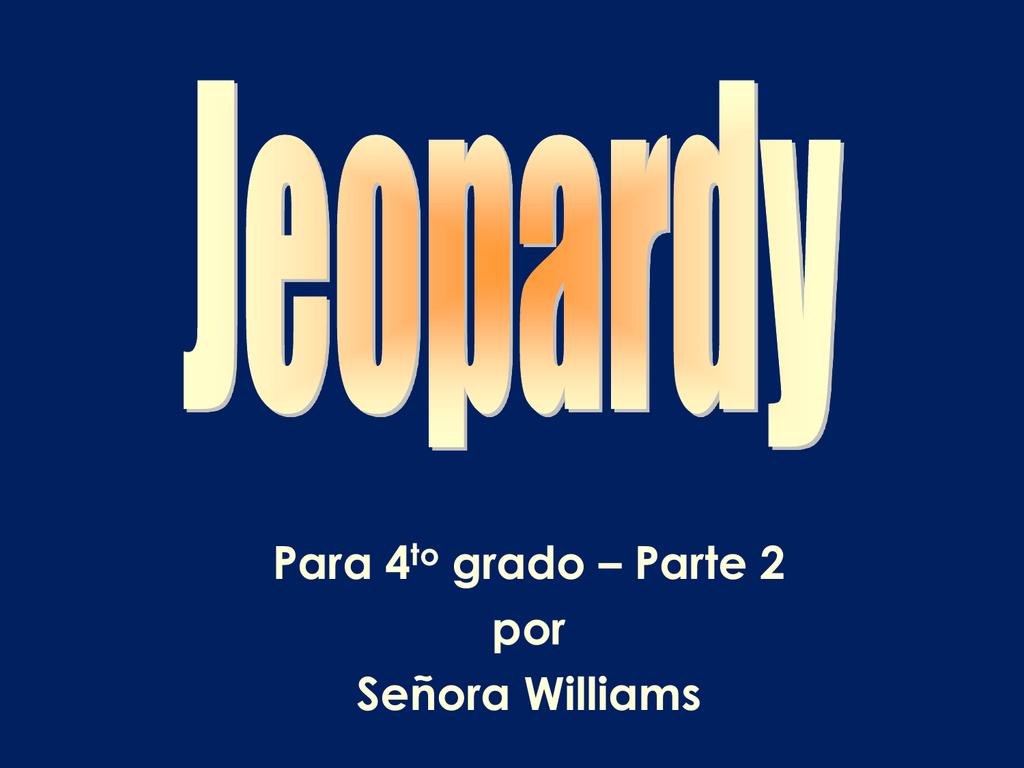 Jeopardy Gr4 2