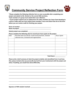 community service project reflection essay Essay on service learning  another criticism of service learning is that the true impact of the projects to the community this is also a common problem with.