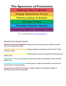 Descriptions of the Levels of the Spectrum Influencing Policy and Legislation
