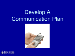 Develop A Communication Plan