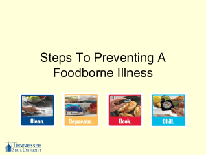 Steps To Preventing A Foodborne Illness
