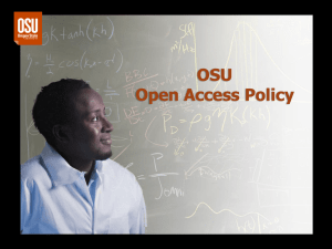 OSU Open Access Policy