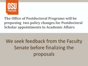 The Office of Postdoctoral Programs will be