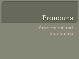 Pronouns Indefinite Power Point