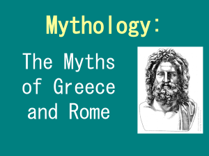 Mythology Introductory Power Point 1