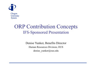 ORP Contribution Concepts