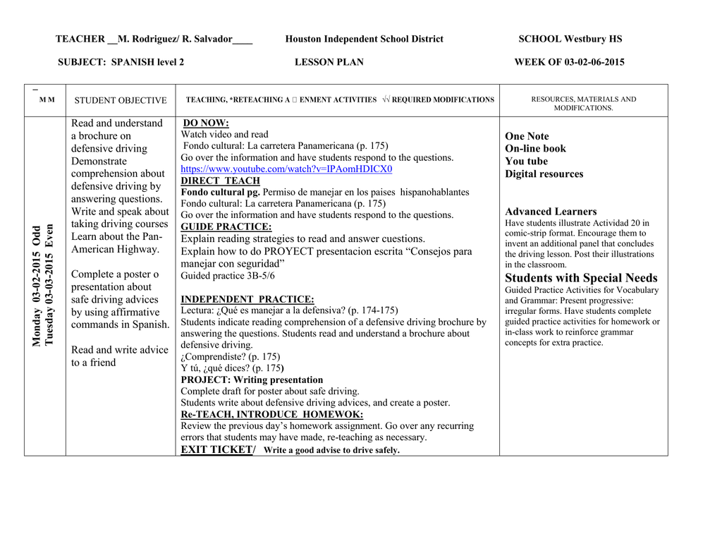 Workbooks practice workbook realidades 3 answers : Spanish 2B week 3