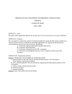 OREGON STATE UNIVERSITY RETIREMENT ASSOCIATION (OSURA) CONSTITUTION MAY 2004