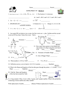 Activity Sheet 3-1f Review 6 STAAR