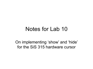 Notes for Lab 10 On implementing 'show' and 'hide'