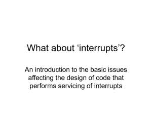 What about 'interrupts'? An introduction to the basic issues