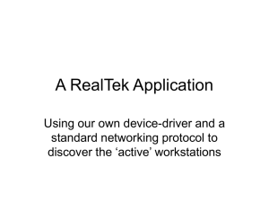 A RealTek Application Using our own device-driver and a
