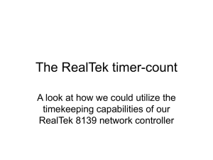 The RealTek timer-count A look at how we could utilize the