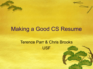 How-to-write-a-CS-resume Workshop