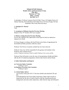 Health and Safety committee minutes May 2011 [DOC 38.50KB]