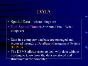 DATA • Spatial Data • Non Spatial Data