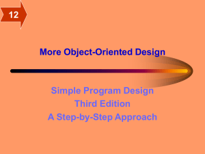 More Object-Oriented Design Simple Program Design Third Edition A Step-by-Step Approach
