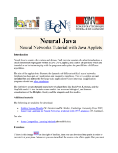 Neural Java Neural Networks Tutorial with Java Applets Introduction