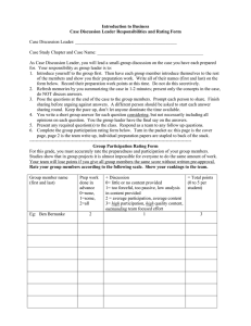 Case discussion leader instructions and rating form