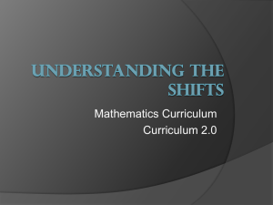 Understanding the Shift to the new Curriculum Presentation