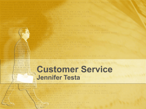 Customer Service Jennifer Testa