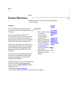Forms Directory