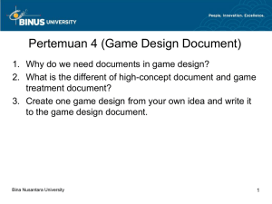 Pertemuan 4 (Game Design Document)