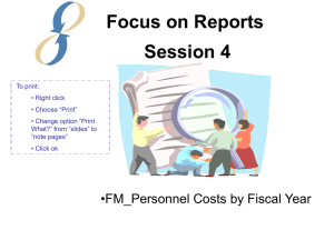 Session 4: FM_Personnel Costs by Fiscal Year Report