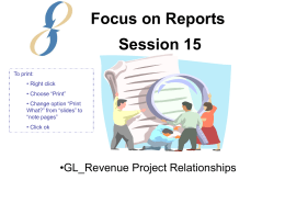 Session 15: GL_Revenue Project Relationships