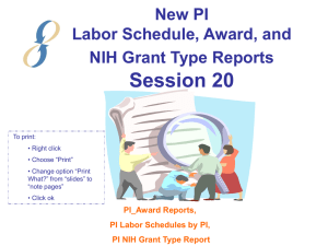 NIH Prior Approval Requirements - Icahn School of Medicine at