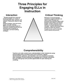 Three Principles for Engaging ELLs in Instruction