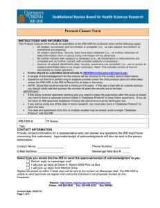 Closure Form for Protocols