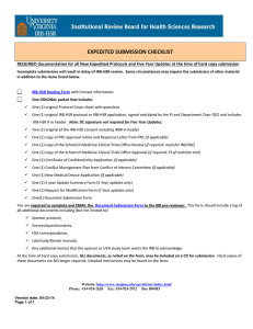 Submission Checklist - Expedited