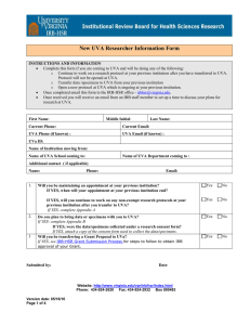 New UVa Researcher Information Form