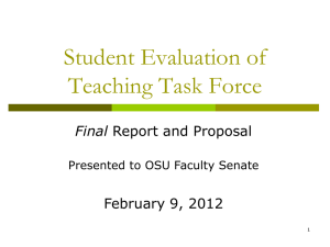 Student Evaluation of Teaching (SET) Task Force PowerPoint