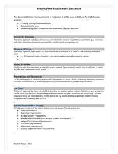 Project Requirements Template