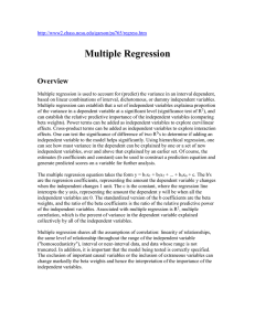 Multiple Regression Overview