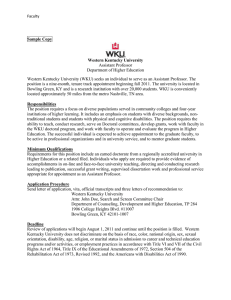 Faculty Job Announcement