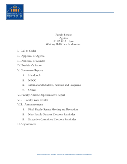 2-7-2012 Faculty Senate Agenda