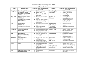 2014-2015 Literacy Curriculum Map