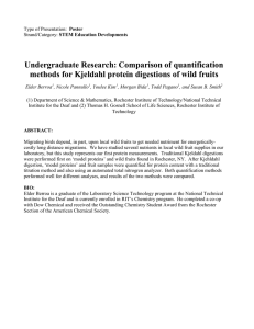 Undergraduate Research: Comparison of quantification