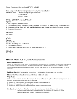 Printables Pharmacy Technician Math Worksheets pharmacy technician math worksheets pharm tech lesson plan doc 2 18 19 15