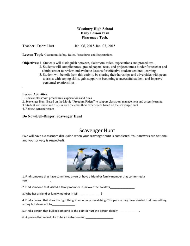 Pharmacy Tech Lesson Plan 1-6-15