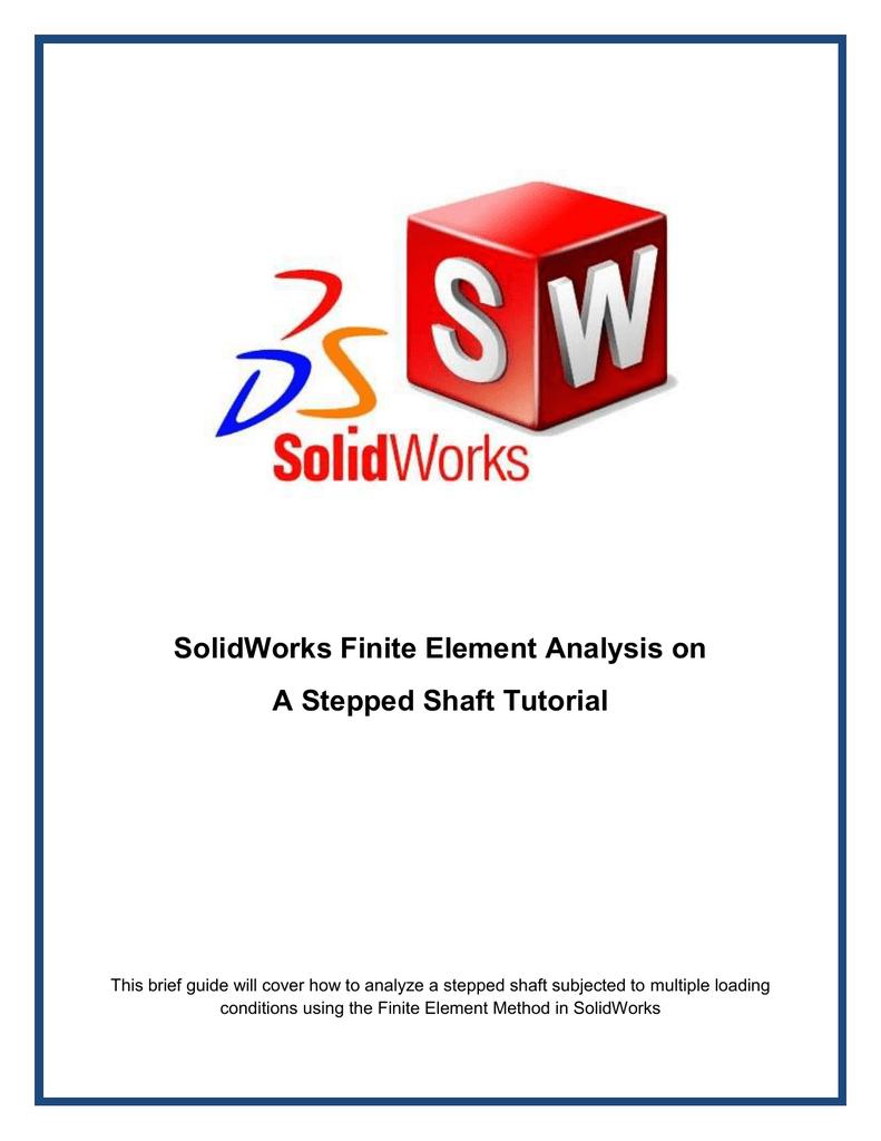 SW FEA tutorial shaft 02