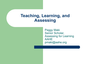 Teaching, Learning and Assessing