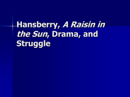A Raisin in the Sun - Introduction to the Play