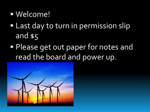 Notes: Wind power