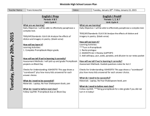 Cycle 4 Week 3 Lesson Plans