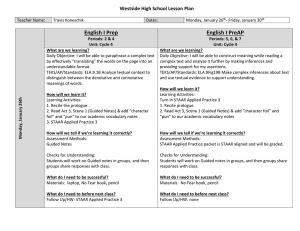 Cycle 4 Week 4 Lesson Plans