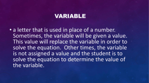 Algebra Key Terms
